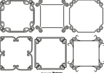 Vector Set Of Abstract Frames/Borders - Free vector #440075