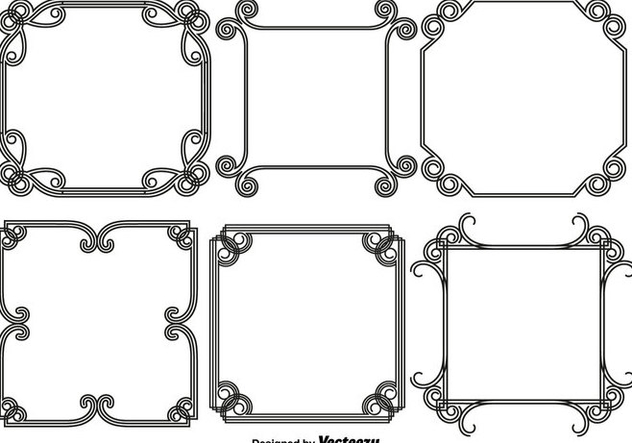 Vector Set Of Abstract Frames/Borders - vector gratuit #440075