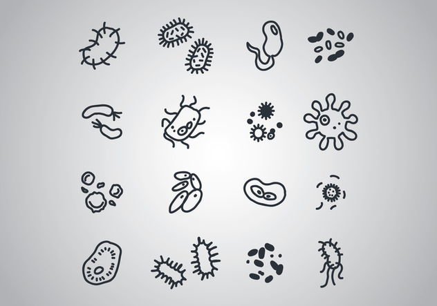 Set Of Bacterias - Free vector #440105