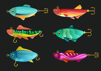 Fishing Tackle Vector Set - Kostenloses vector #440125