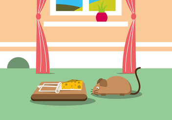 Mouse Trap Vector Illustration - vector #440135 gratis