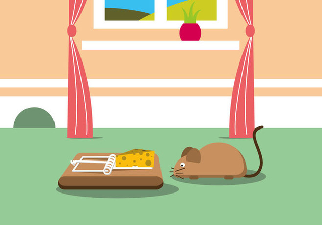 Mouse Trap Vector Illustration - Kostenloses vector #440135