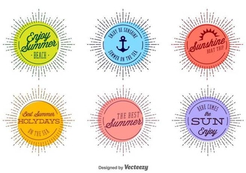 Vector Summer Badges For Any Use - Free vector #440155