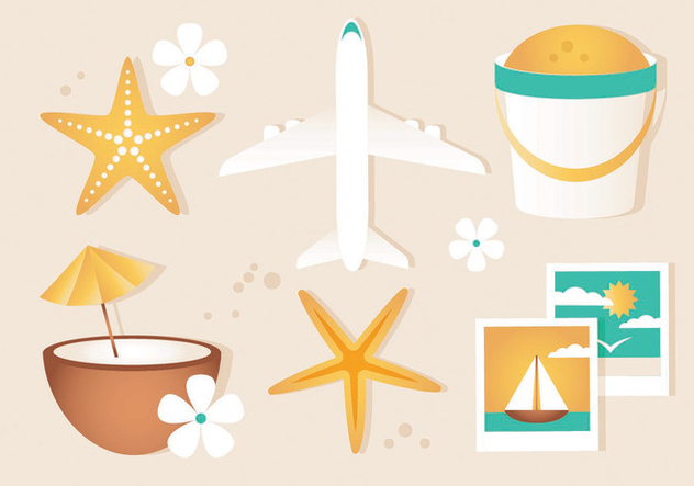 Free Vector Summer Travel Elements - Free vector #440165