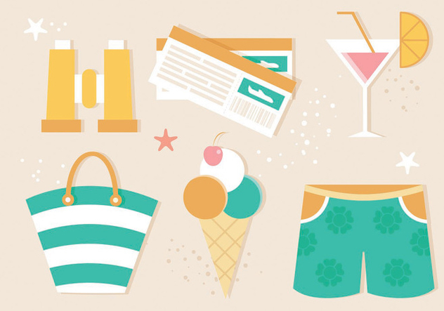 Free Flat Design Vector Summer Illustration - vector gratuit #440175