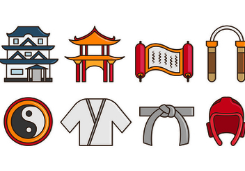 Set Of Dojo Icons - vector gratuit #440205