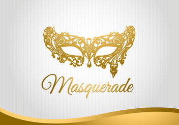 Masquerade Mask Background Free Vector - vector gratuit #440215