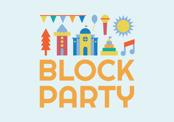 Block party illustration - vector gratuit #440255
