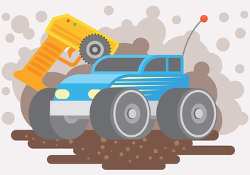 Rc Car Vector Background - Free vector #440265