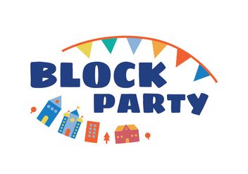 Block party illustration - vector gratuit #440295