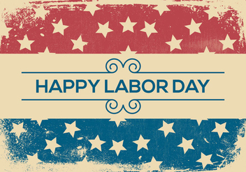 Happy Labor Day Grunge Background - vector gratuit #440325