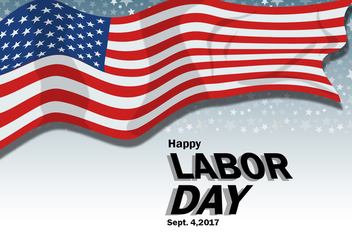 Labor Day Poster Design - бесплатный vector #440405