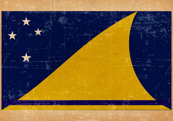 Old Grunge Flag of Tokelau - Free vector #440415