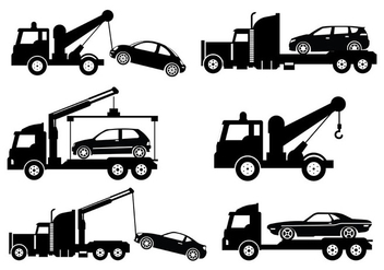 Towing Vector Icons - vector #440425 gratis