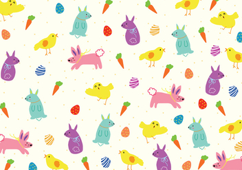 Easter Pattern Background - Free vector #440495