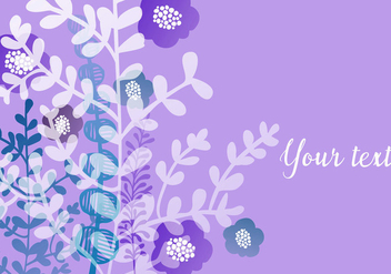Purple Floral Wallpaper - vector #440505 gratis