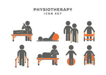 Physiotherapy Icon Set Free Vector - Kostenloses vector #440525