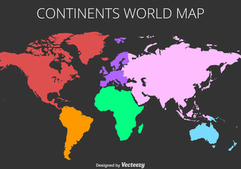 Vector Colorful World Map - Kostenloses vector #440595