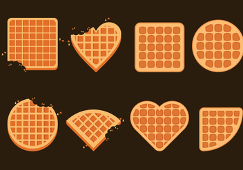 Belgium Waffles Illustration Set - vector #440615 gratis