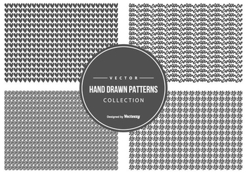 Cute Sketchy Pattern Collection - Free vector #440625