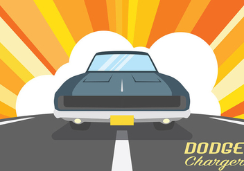 Dodge Charger Vector Background - Kostenloses vector #440635