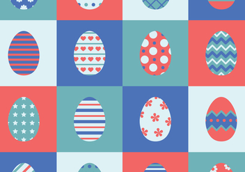 Set Of 16 Easter Eggs - Free vector #440645