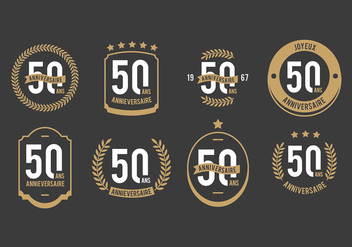 Free 50th Anniversaire Vectors - бесплатный vector #440715
