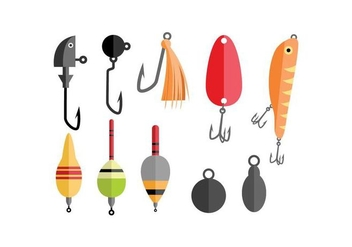 Fishing Tools Vector - Free vector #440765
