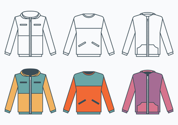 Windbreaker Jacket Collection - Free vector #440775