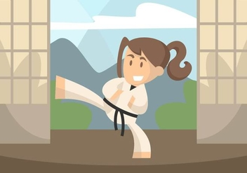 Dojo Illustration - Free vector #440785