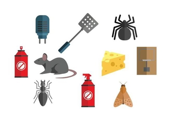 Exterminator Icon Set Vector - Free vector #440815