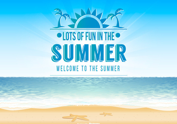Summer Background Illustration - Free vector #440845