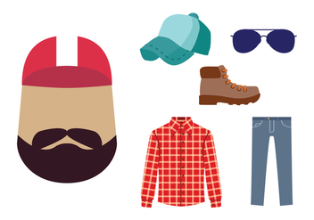 Trucker Guy Icon Vector - vector gratuit #440875
