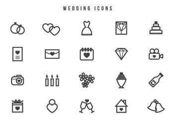 Free Wedding Vectors - vector gratuit #440915