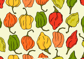 Vector Seamless Habanero Peppers Pattern - Kostenloses vector #441075