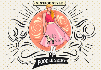 Woman Pose with Poodle Skirt Costume - Free vector #441085