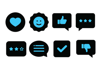Duotone Testimonials Icon Set - бесплатный vector #441095