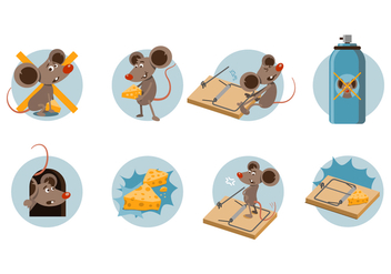 Free Mouse Trap Cartoon Vector - Kostenloses vector #441125