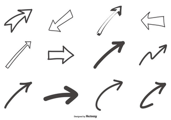 Hand Drawn Arrows Collection - Kostenloses vector #441155