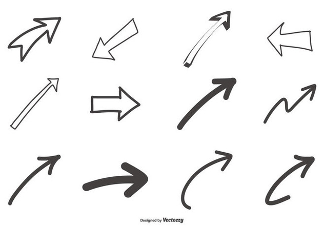 Hand Drawn Arrows Collection - Free vector #441155