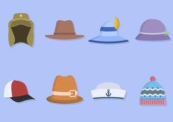 Flat Hat Collections - vector #441215 gratis