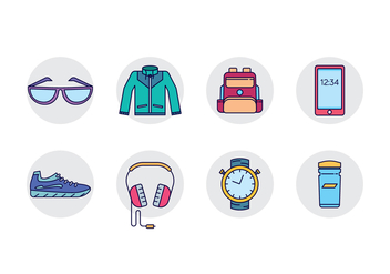 Daily Activity Gear - vector gratuit #441235