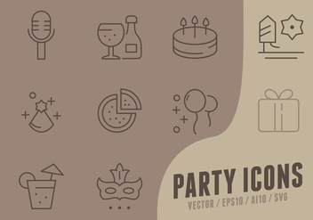 Happy Birthday Collection Icons - Free vector #441255