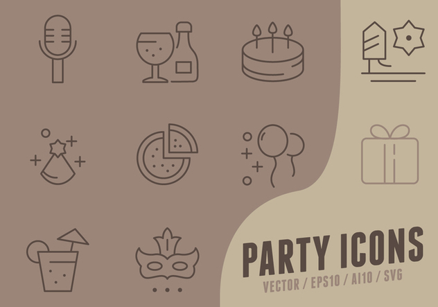 Happy Birthday Collection Icons - Kostenloses vector #441255