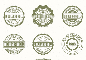Green Biodegradable Vector Labels - vector gratuit #441325