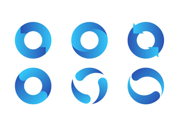 Update Icon Blue Free Vector - vector gratuit #441335