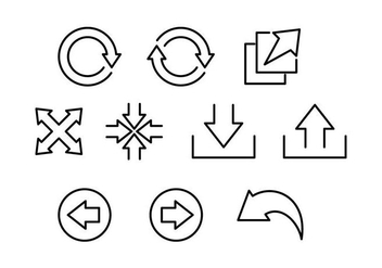Free Interface Arrow Line Icon Vector - vector gratuit #441345