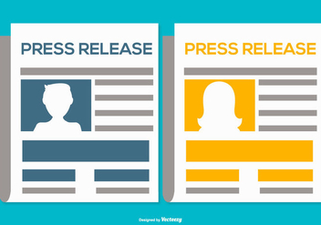 Press Release Illustrations - бесплатный vector #441365