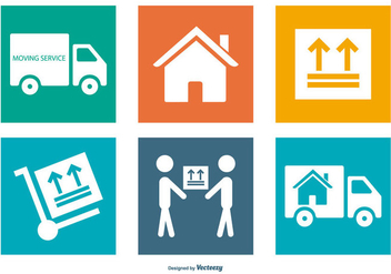 Moving Service Icon Collection - vector #441375 gratis