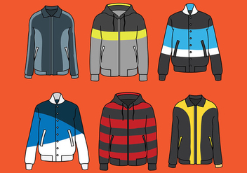 Windbreaker Vector Icons - vector #441405 gratis